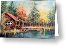 Hide Out Cabin Greeting Card