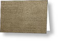 Hieroglyph Iv Greeting Card