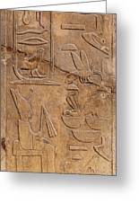 Hieroglyphs On Ancient Carving Greeting Card by Jane Rix