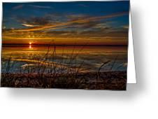 Higgins Lake The Perfect Sunset Greeting Card