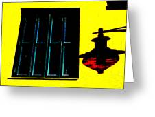 High Contrast Window And Lamp Greeting Card