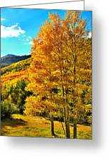 High Country Aspens Greeting Card