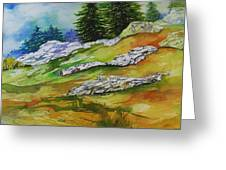 High Country Boulders Greeting Card