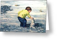 High Country Snow Girl Greeting Card