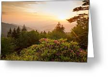 High Country Sunset Greeting Card