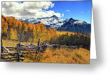 High County Ablaze Greeting Card