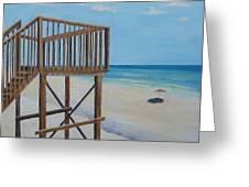 High Deck At Blue Mountain Beach Greeting Card