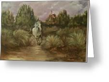 High Desert Runner Greeting Card