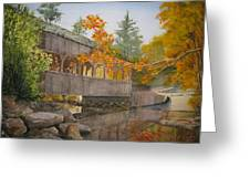 High Falls Bridge Greeting Card