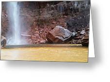 High Falls Emerald Pool Greeting Card
