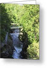 High Falls Gorge Greeting Card