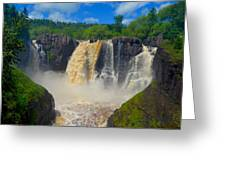 High Falls In July Greeting Card