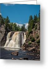 High Falls Of Tettegouche State Park 4 Greeting Card