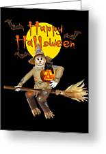 High Flying Scarecrow Greeting Card