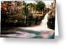 High Force With A Watercolour Effect. Greeting Card