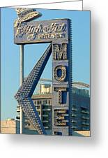 High Hat Motel Las Vegas Greeting Card