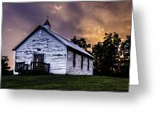 High Hill Chapel Sunset Greeting Card