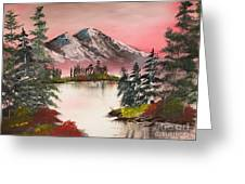 High Lakes Summer Sunset Greeting Card