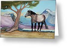 High Meadow Mustang Greeting Card