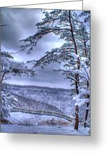High Mountain Fence Greeting Card