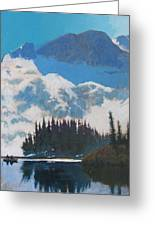High Mountain Lake Greeting Card