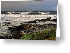 High Ocean Surf Greeting Card
