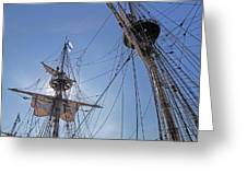 High On The Foremast Greeting Card
