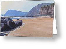 High Peak Cliff Sidmouth Greeting Card