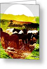 High Plains Horses Greeting Card