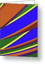 High Power Wires Abstract Color Sky Greeting Card