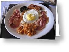 High Protein Breakfast Greeting Card