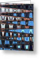 High Rise Construction Abstract # 4 Greeting Card