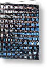 High Rise Construction Abstract Greeting Card