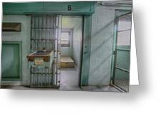 High Risk Solitary Confinement Cell In Prison Greeting Card