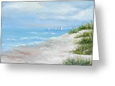 High Sails Greeting Card by Shirley Lawing