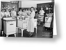 High School Cooking, 1935 Greeting Card