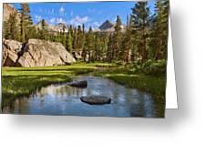 High Sierra Stream Greeting Card