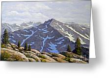 High Sierras Study Greeting Card