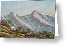 High Sierras Study IIi Greeting Card