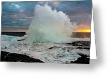 High Surf Explosion Greeting Card