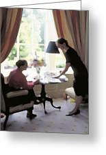 High Tea At St. Clarens Manor Greeting Card
