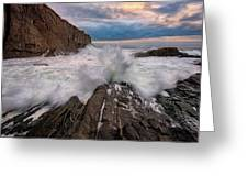 High Tide At Bald Head Cliff Greeting Card