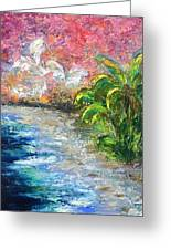 High Tide In Paradise Greeting Card