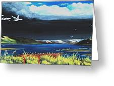 High Tide Swans Greeting Card