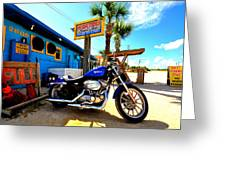 High Tides Harley Greeting Card by Andrew Armstrong  -  Mad Lab Images