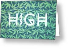 High Typo  Cannabis   Hemp  420  Marijuana   Pattern Greeting Card
