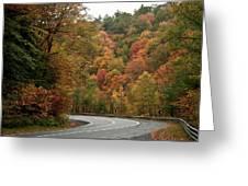 High Walls Of Fall Colors Greeting Card