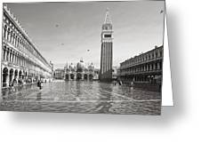 High Water In S.marco Square Greeting Card