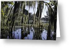 High Water On Blind River Greeting Card