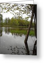 High Water Reflections Greeting Card